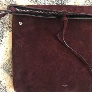 THEORY Suede Leather Clutch